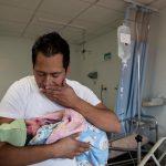 father baby mexico love joy skin-to-skin