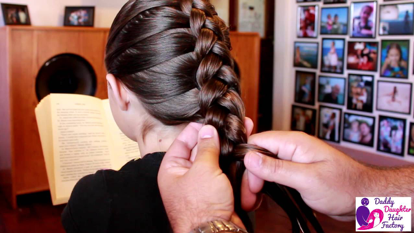 fathers doing daughter's hair